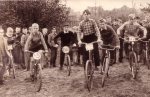 BMX in Holland in 1957. Seen here nr.5 Ton van Heugten